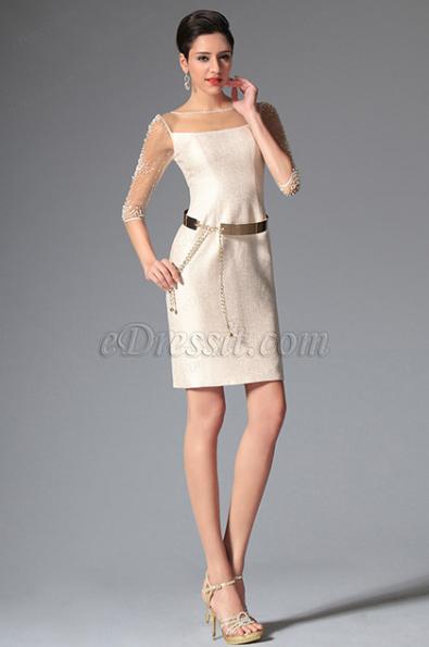Платья до колена с коротким рукавом фото