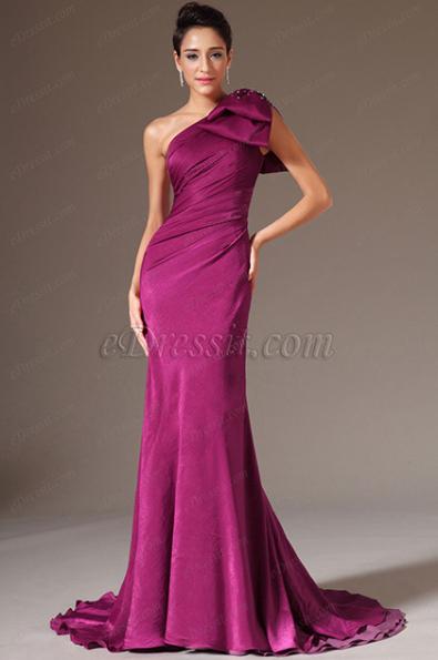 Платье на одно плечо вечернее купить