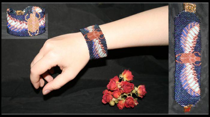 широкие браслеты из бисера - О том, как плести бисером.