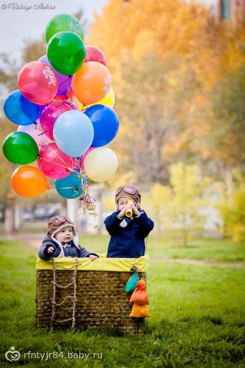 Воздушный шар и ребенок 95