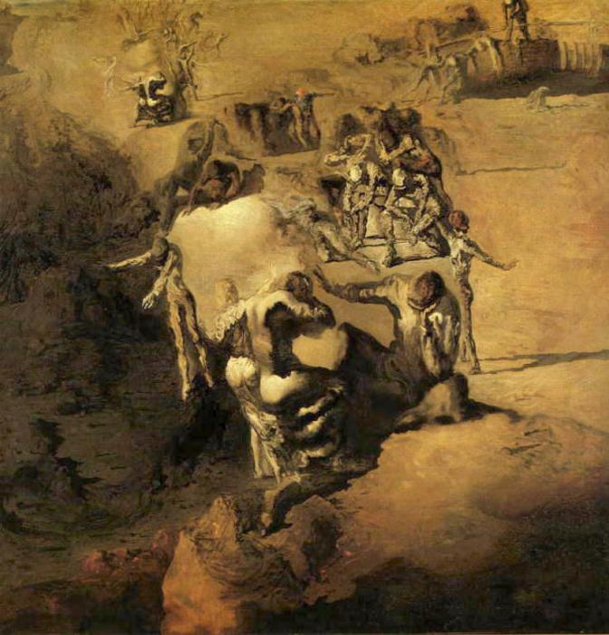 a painting analysis of the face of war by salvador dali