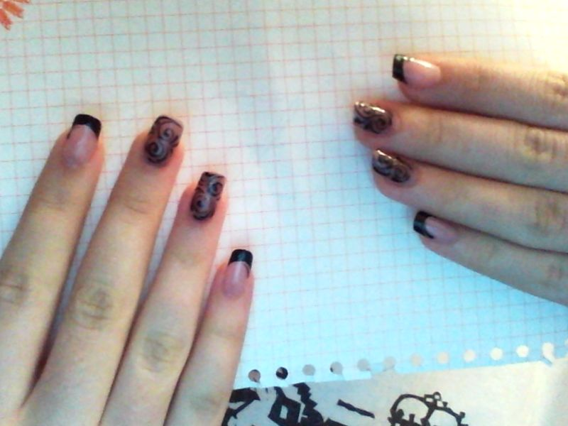 Когти и ногти с маникюрами