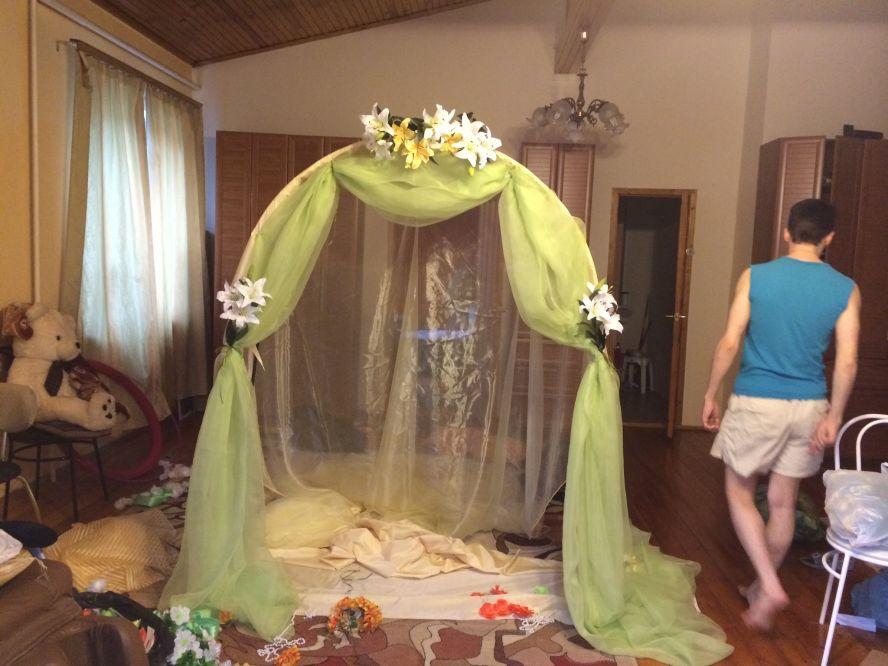 Украшение своими руками для свадьбы арка 1152