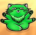 зеленый-мяв