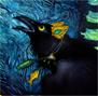 вороненок с зелеными глазами