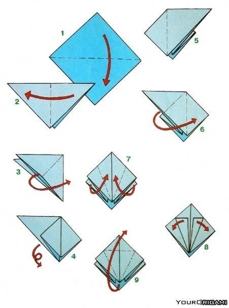 Как сделать журавлик из бумаги фото
