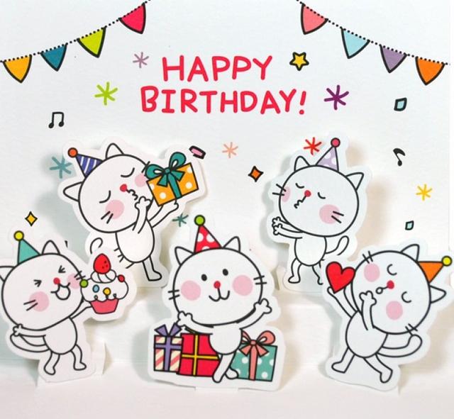 Нарисованные открытки с днем рождения женщине красивые