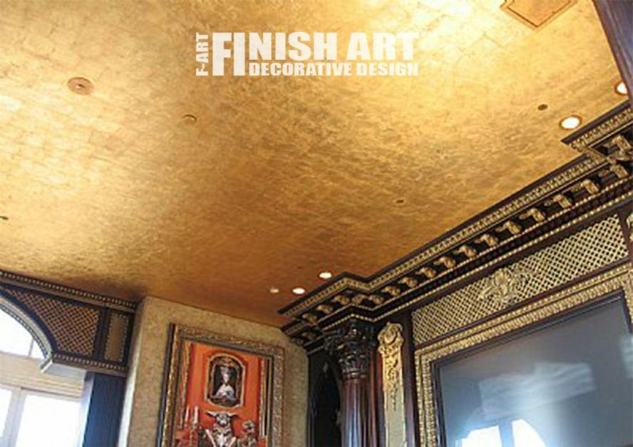 Как сделать потолок золотого цвета