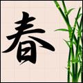 Купить майку Весна - иероглиф. увеличить футболку Весна - иероглиф.