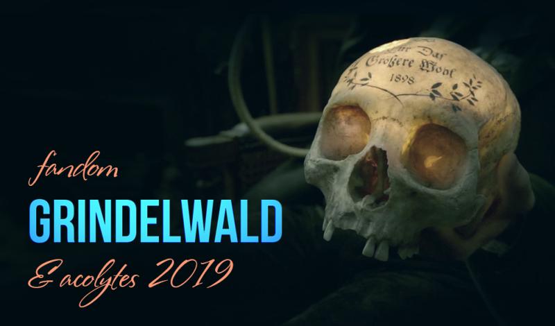 баннер fandom Grindelwald and acolytes 2019