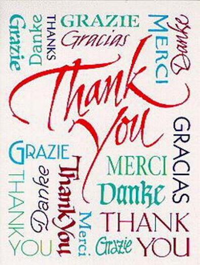 Всем спасибо за поздравления по английски