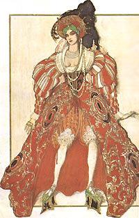 Жена Потифара. Эскиз костюма к балету Р.Штрауса