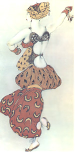 Одалиска. Эскиз костюма к хореографической драме Н.А. Римского-Корсакова «Шехерезада», 1910 г