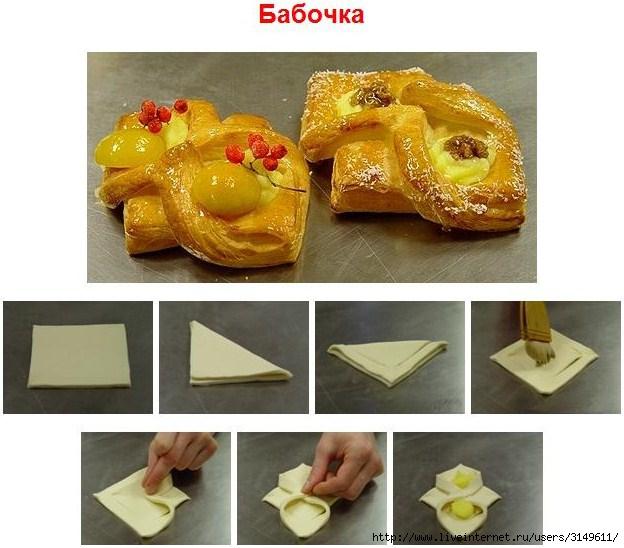 Красивая выпечка из слоеного теста рецепты с пошагово