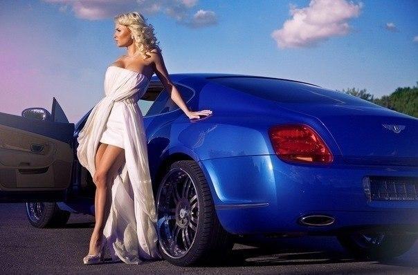 Богатые девушки на красивых машинах