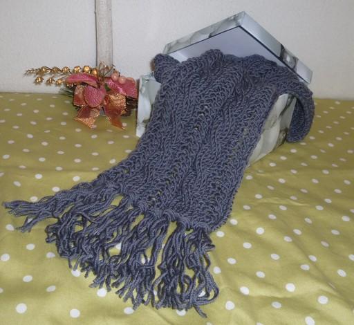 Как связать мужской шарф спицами Интернет магазин пряжи...