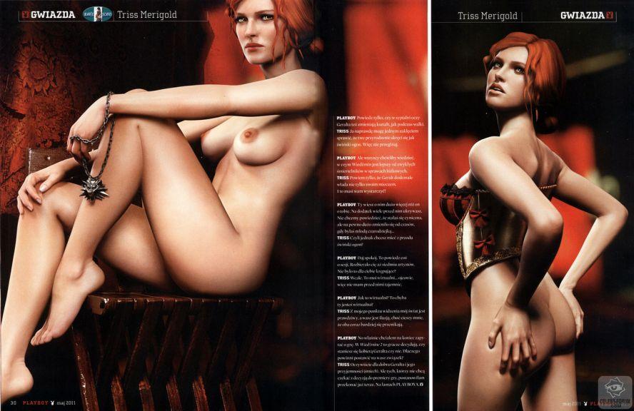 86911036.jpg - The Witcher 2: Assassins of Kings: Трисс Меригольд в Playboy - Сканы+ пере