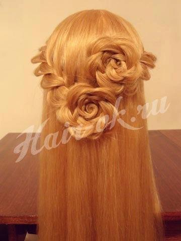 Как сделать цветок из косы на волосах - Nastolnyje-nabory.ru