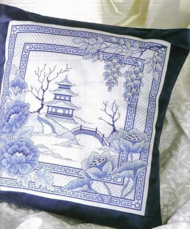 Рхема для вышивки крестом подушка Винипух