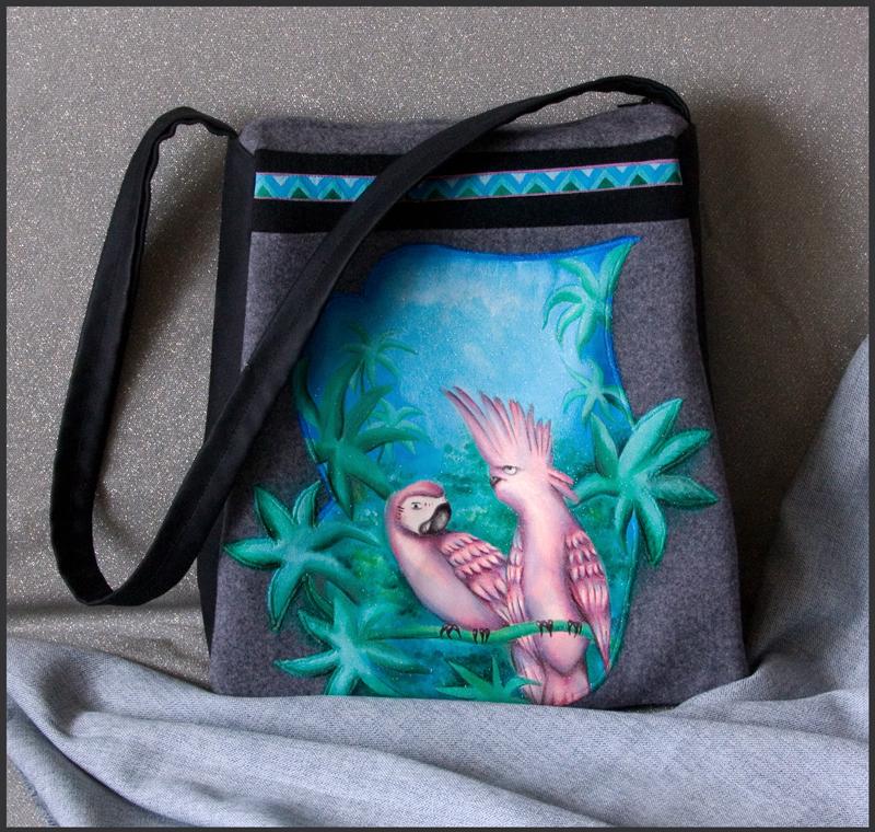 роспись Заказная сумка по мотивам одной из моих прошлых работ с...