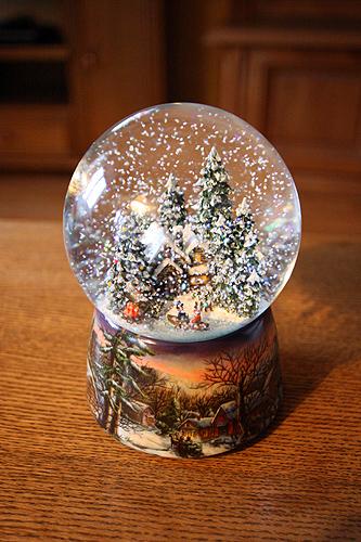 Снежный шар со снегом внутри 3