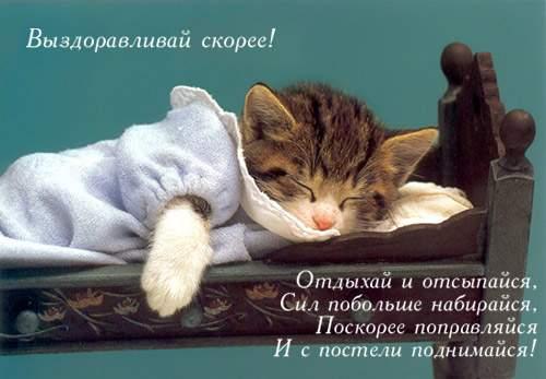 С выздоровлением открытка