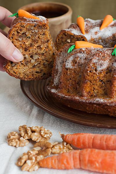 Морковный кекс с грецкими орехами рецепт