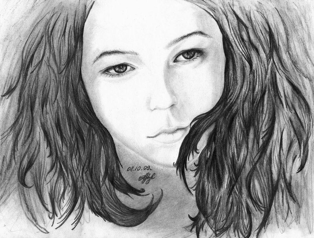 Правильно рисовать волосы карандашом