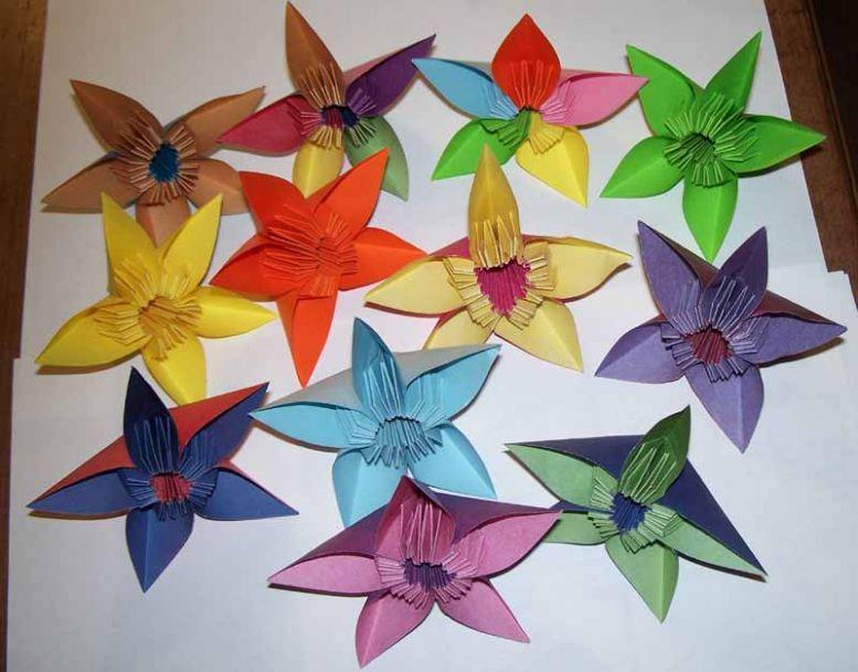 модульное оригами схемы сборки кота.