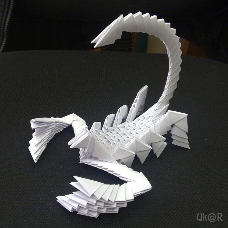 первое модульное оригами,