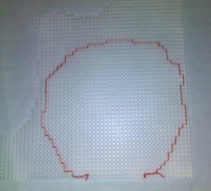 Вышивка крестом обшивка контура 30