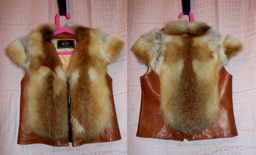 Продаю меховую жилетку. . Размер 44-46, материал мех лисы + натуральная кожа. . Жилет никем, никогда, ни разу не
