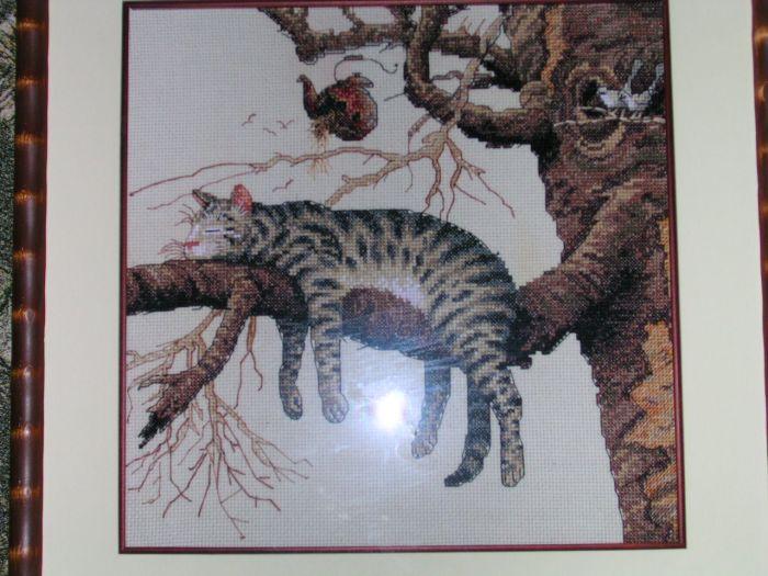 """Dimensions """"Кот на дереве""""."""