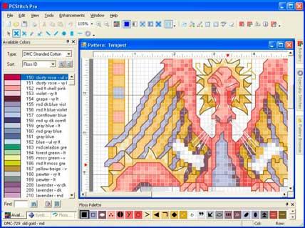 Программа PCStitch Pro позволяет самому создавать свою вышивку, переводить любые картинки в схемы для вышивки...