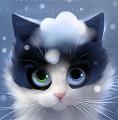 акварельный кот