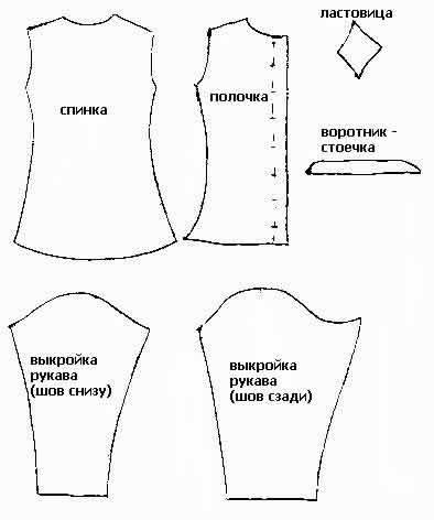 Простые модели и выкройки для шитья.