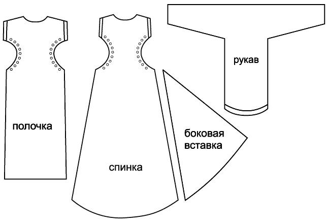 Выкройки женского платья
