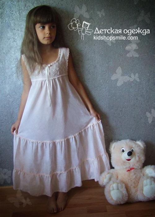 Детская сорочка для девочки своими руками 39