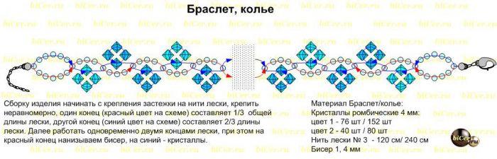 схемы плетение браслетов из резинок на вилке