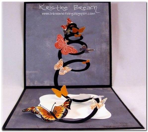 Вот пара примеров создания открыток с применением техники Pop-Up.  Бабочки, бабочки, бабочки.  До встречи!