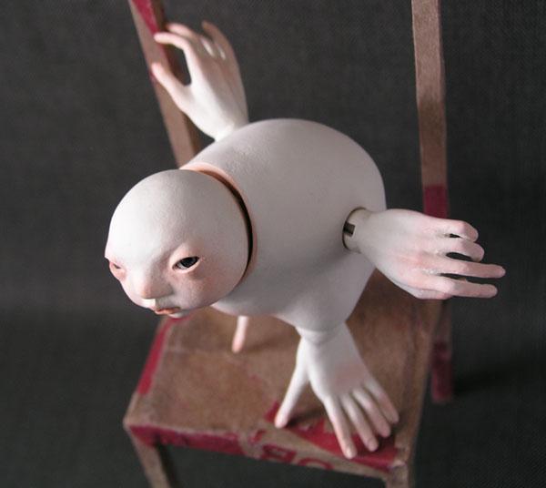 Как сделать шарнирную куклу-кошку