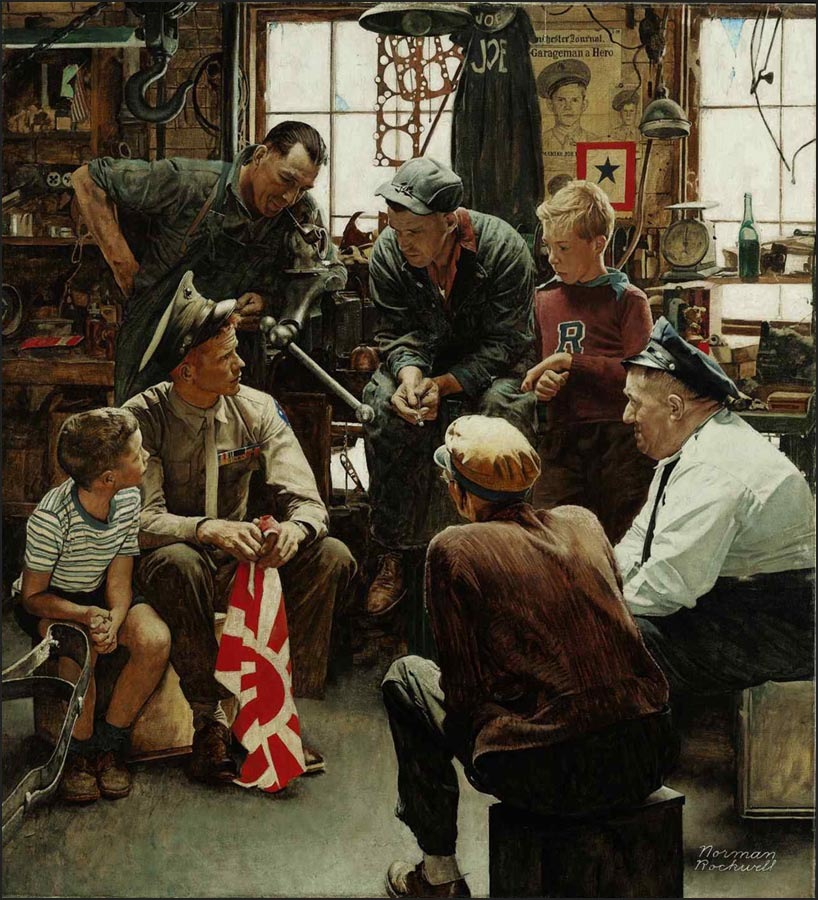 norman rockwells paintings In honor of norman rockwell's birthday today, jeremy clowe, manager of media services at norman rockwell museum, reveals the history of some of the artist's most popular illustrations.