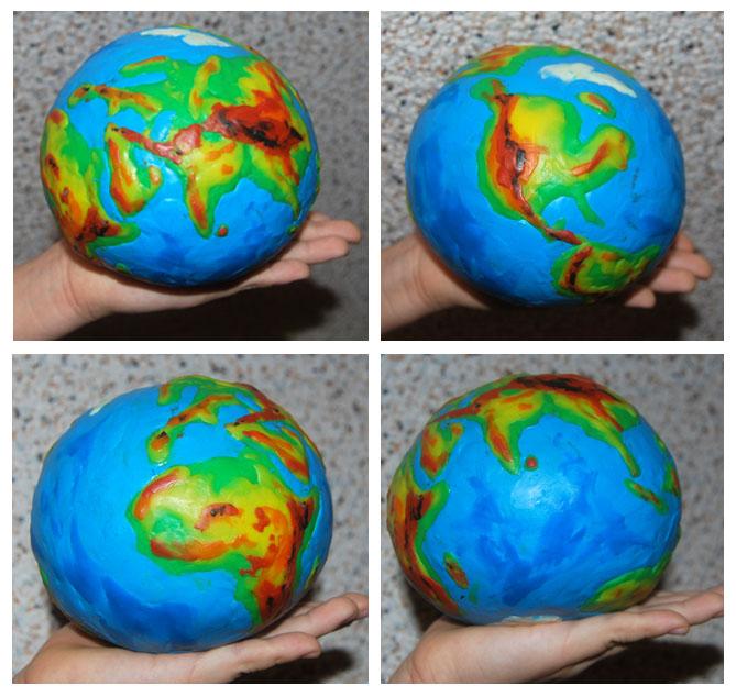 Модели земли своими руками