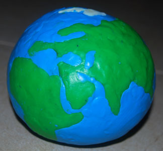 Как из пластилина сделать планету земля