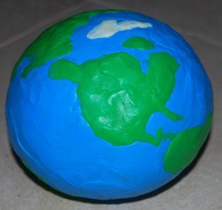 Модель земли своими руками из пластилина фото