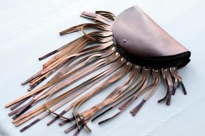 Женские сумки ручной работы.  Ярмарка Мастеров - ручная работа.  Купить Поясная сумка с бахромой.  Натуральная кожа.
