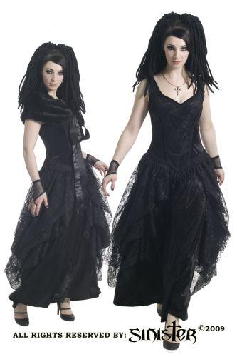 ...мимо этого волшебно-воздушного длинного платья в готическом стиле.