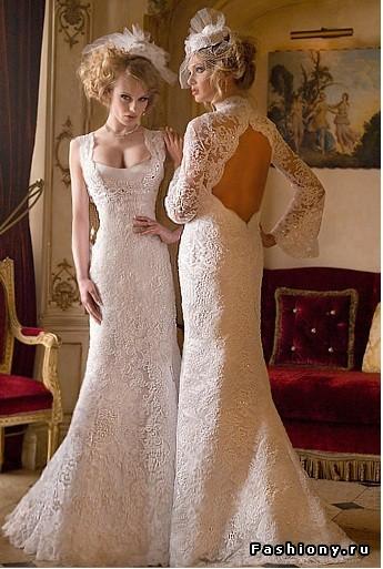 свадебные ретро платья (29 изображения) Модные платья 2012.