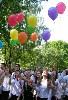 И выпускаем шары.....мой улетел, желание должно...