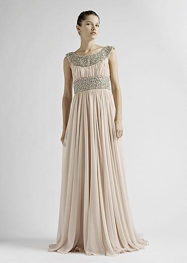 Фотографии платьев в греческом стиле.  Шелковые темно синие платья.
